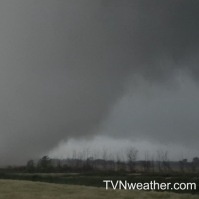 A screen grab of Monday's tornado in Manitoba, which was on the ground for nearly 3 hours.