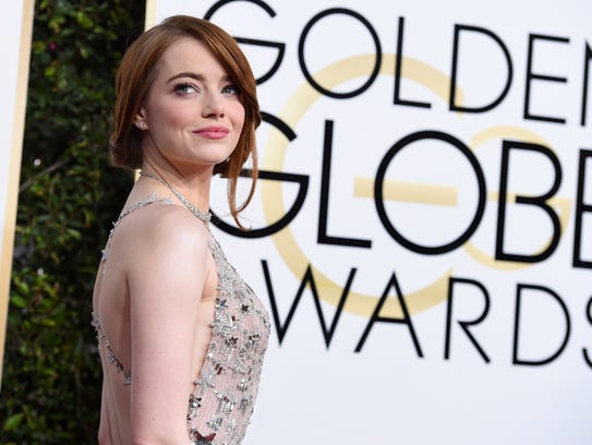 FILE- In this Jan. 8, 2017, file photo, Emma Stone