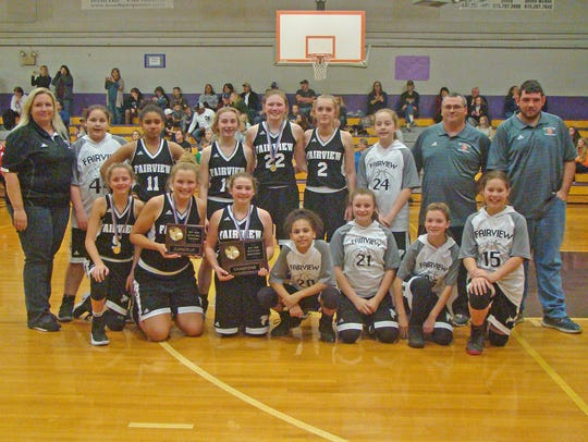 The Fairview Middle School Lady Falcons Basketball