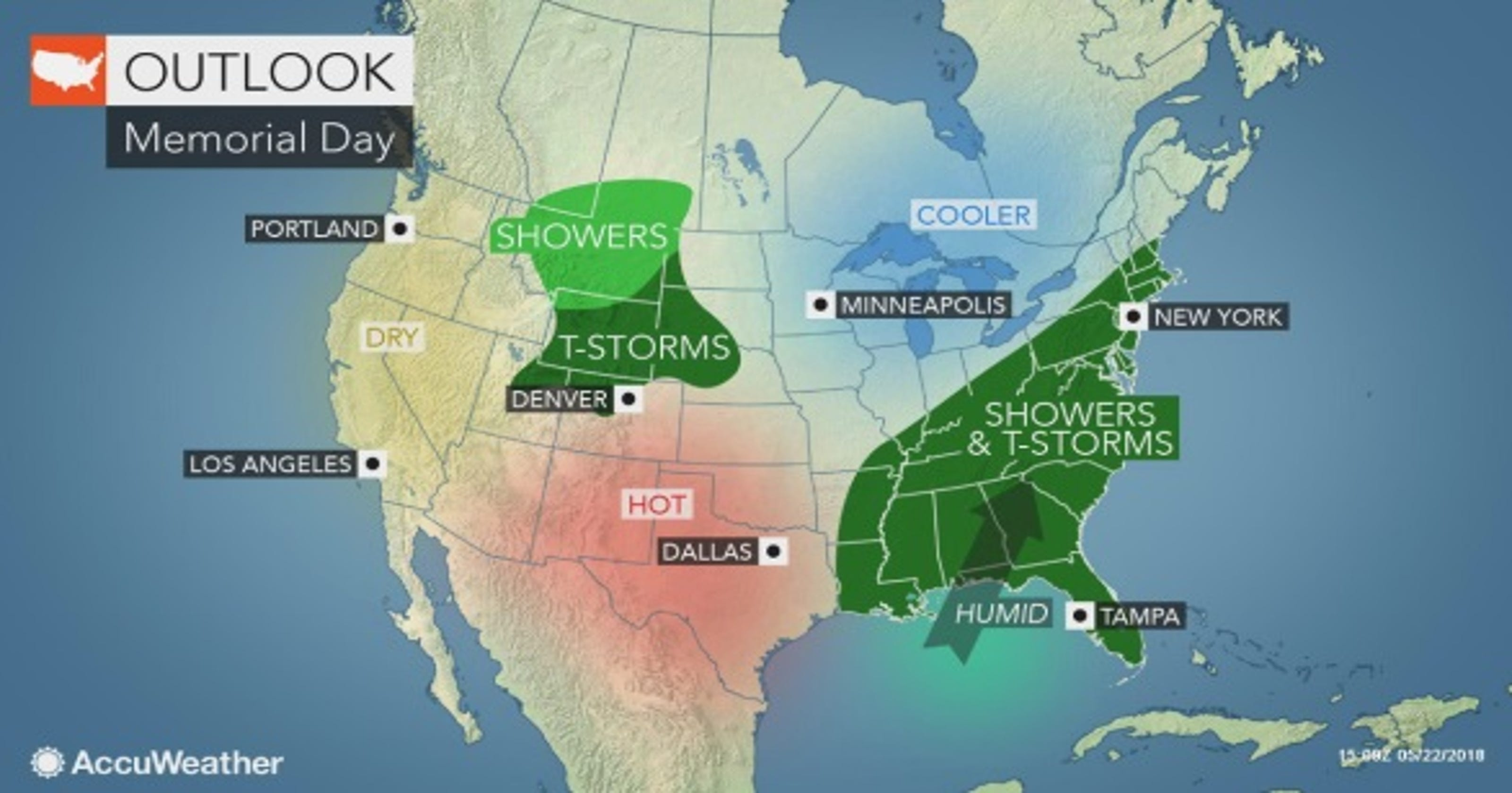 Weather: Here is the best time for Memorial Day weekend plans