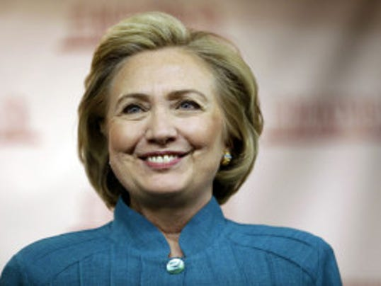 Hillary Clinton at a book-signing at Bookends Bookstore in Ridgewood, N.J., on July 17, 2014. (Associated Press/Julio Cortez)