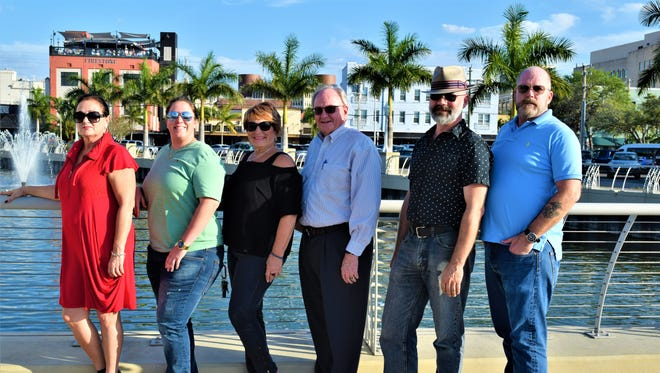 The Harmony Chamber of Commerce: President Susan Christiano, from left, Tyla Vaccaro, Vice President Arlene Goldberg, Treasurer Ron Penn, Scott Cornish and Ollie Gentry.
