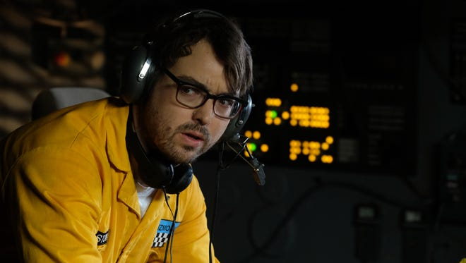 "Jonah Ray, pictured in a scene from the Netflix revival of ""Mystery Science Theater 3000."""
