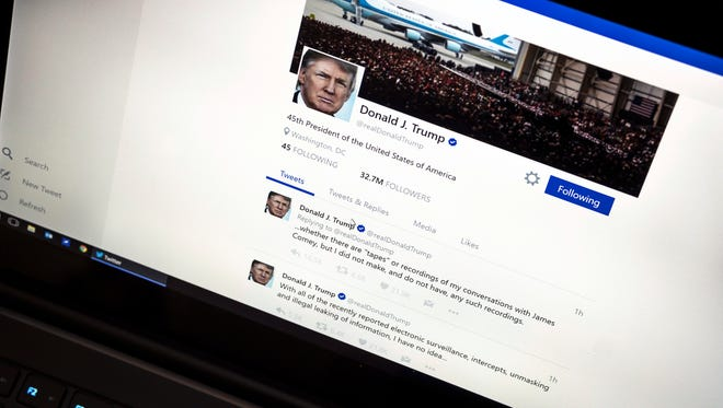 President Trump's Twitter page.