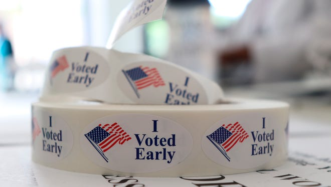 Stickers for early voters