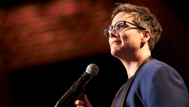 """Hannah Gadsby, who made waves with her Netflix special """"Nanette"""" (pictured), delivered a powerful speech about """"good men."""""""