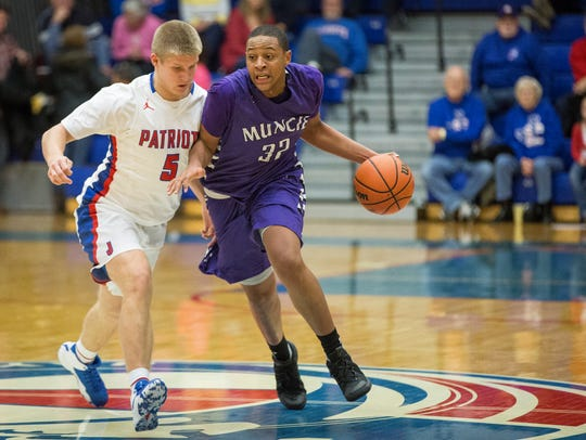 Central's Christian Wells attempts to drive down the