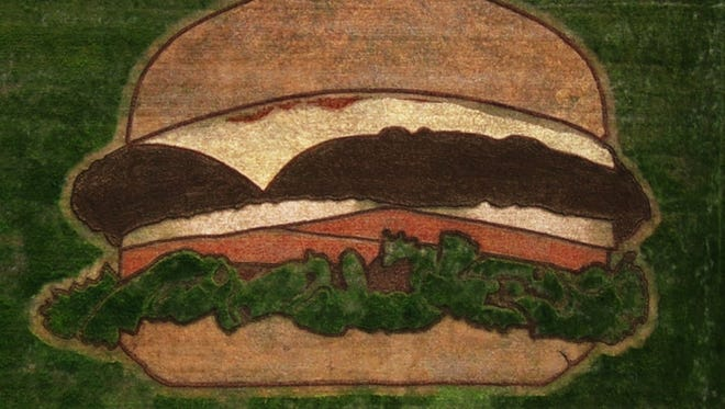 Hardee's created a hamburger-shaped crop circle in Nashville as part of a marketing campaign.