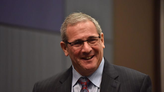 New York Giants general manager Dave Gettleman will hold his pre-draft news conference Thursday at the team's facility in East Rutherford.