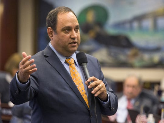 Rep. Ray Rodrigues, R-Estero, answers questions on