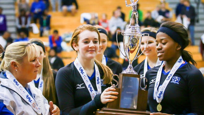 For the fourth consecutive season, the St. Joseph's volleyball team earns the state championship trophy.
