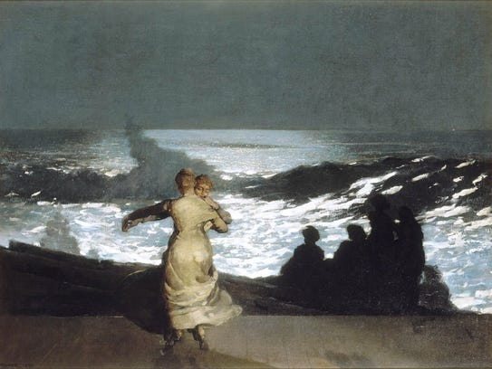 """""""Summer Night"""" is one of the works featured in """"Coming Away: Winslow Homer and England"""" at the Milwaukee Art Museum."""