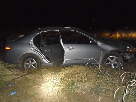 Police found this silver Honda Accord abandoned following