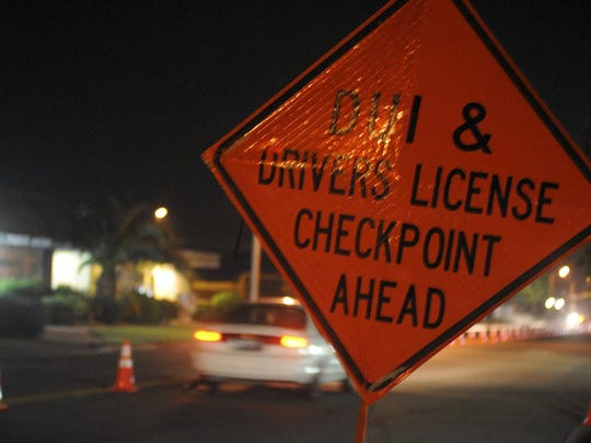 Visalia traffic officers held a DUI and driver's license checkpoint on Houston Avenue and Lovers Lane on Friday night.