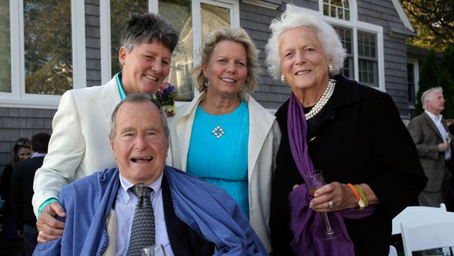 George H.W. Bush at a weekend wedding in Maine.