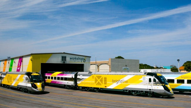Two more Brightline trains arrived in West Palm Beach on Thursday.