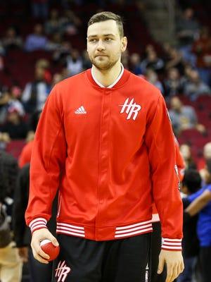 Houston Rockets forward Donatas Motiejunas.