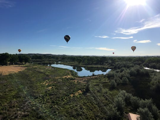 Thirteen hot air balloons participated in the San Juan River Balloon Rally on Friday. This is the 10th year for the event, which has balloons takeoff from Bloomfield.