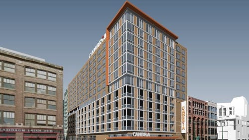 The Cambria Hotel & Suites being proposed for Downtown Indianapolis will have would have 193 rooms and suites, a restaurant and lounge, and an indoor pool and fitness center.