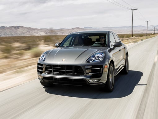 The 2015 Porsche Macan Turbo, tied for fastest-selling