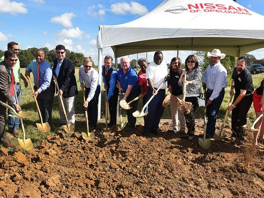 Breaking ground Thursday for the new Nissan of Opelousas