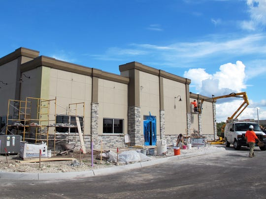A Culver's restaurant nears completion in the Cameron