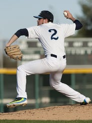 Central Valley Christian's Noah Flores pitches against