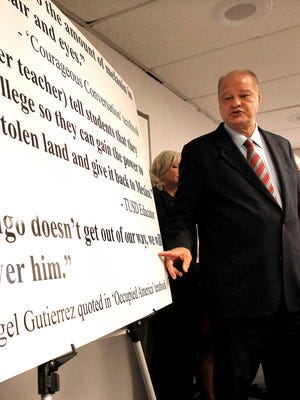 In Jan. 2011, outgoing Arizona schools chief Tom Horne announced in Phoenix that a major school district in Tucson was violating a new state law by continuing an ethnic studies program designed primarily for Hispanics.