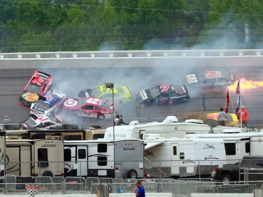 Sprint Cup races at Talladega Superspeedway are always