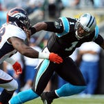 Broncos OLB Von Miller and Panthers QB Cam Newton (1) will surely be two key players in Super Bowl 50.