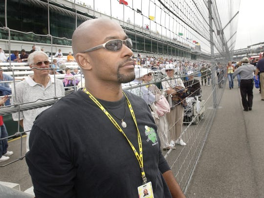 FILE --- IRL driver George Mack looks on for the pit area as he watching the qualifing for the Indianapolis 500 Sunday afternoon at the Indianapolis Motor Speedway. (Matt Kryger Photo) with story File #84306