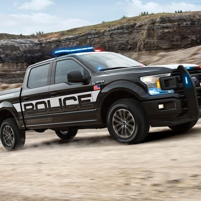 Police version of F-150 pickup overpowers Dodge and Chevy police cars