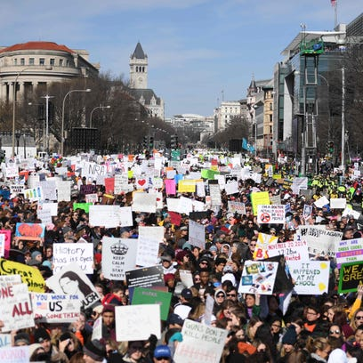 Participants arrive for the March for Our Lives Rally