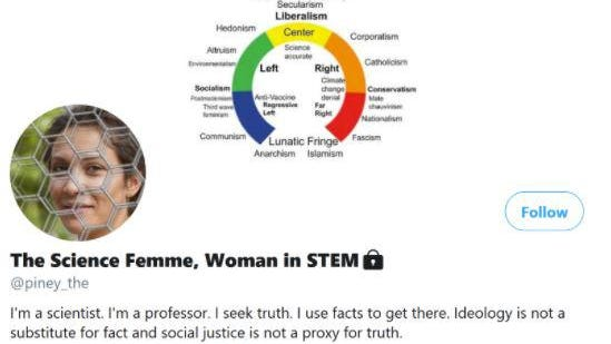 """The University of New Hampshire is investigating after receiving complaints about a now-deleted Twitter account called """"The Science Femme, Woman in STEM,"""" which was allegedly run by a white male on the UNH faculty."""