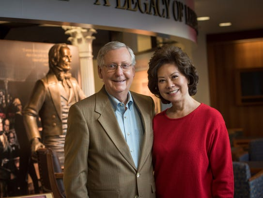 Senate Majority Leader Mitch McConnell and Elaine Chao