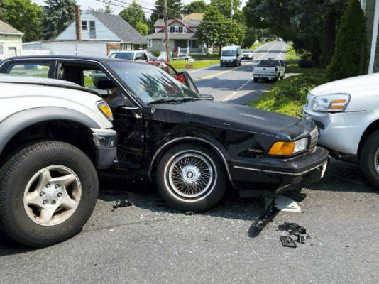 Three vehicles were involved in a crash at 10:51 a.m. Wednesday at North Seventh Street and Kochenderfer Road in North Lebanon Township. An injury was reported. Donald Harris of Lebanon, who submitted the photo, said he was passing by when the crash occurred and directed traffic until police arrived.
