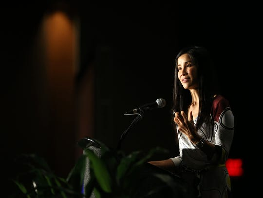 Award-winning journalist Lisa Ling speaks at the Women's