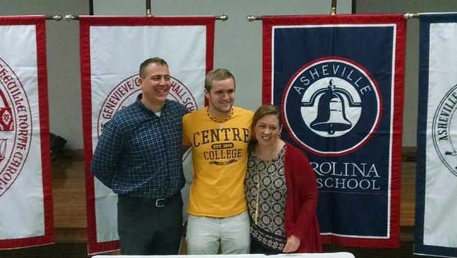 Carolina Day senior Matt Swedan has committed to swim in college for Centre (Ky.).