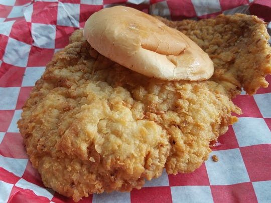 The Mug's thick and juicy breaded tenderloin ($8.25) is made with free-range Indiana pork. The Mug opened Sept. 28, 2016,  at 118 S. Audubon Road in Irvington, on Indianapolis' Westside.