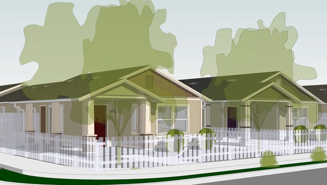 A rendering shows the six-home project to be completed in 2018 by Habitat for Humanity of Ventura County.