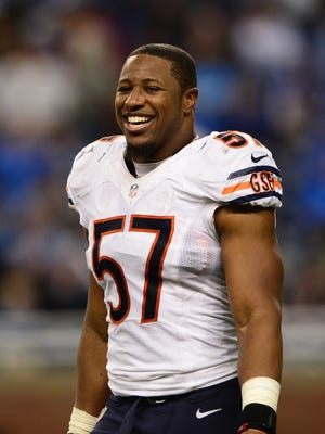 Jon Bostic with the Bears in 2015.