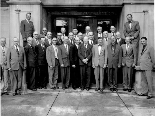 In addition to seeking other photos from residents, Sanilac County is also hoping living relatives and friends might be able to put names to faces in this 1955 photo of the county board.
