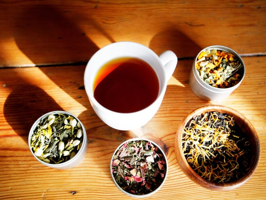 An assortment of Asheville Tea Company blends.