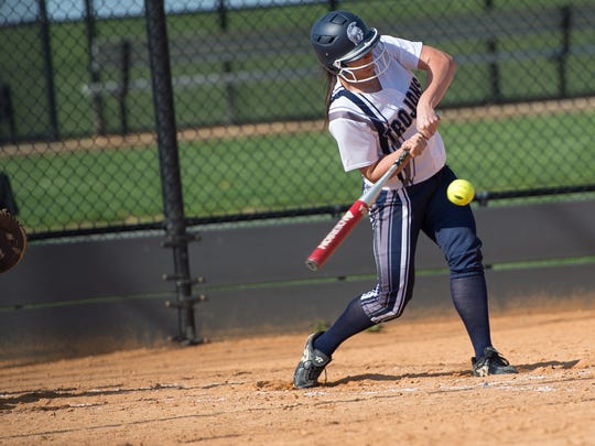 Chambersburg's Dori Loukopoulos takes a cut during