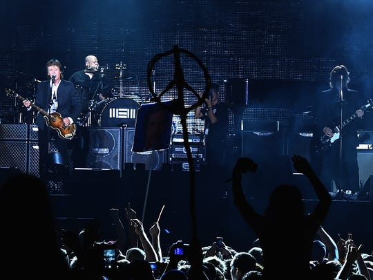 Paul McCartney performs during the Firefly Music Festival