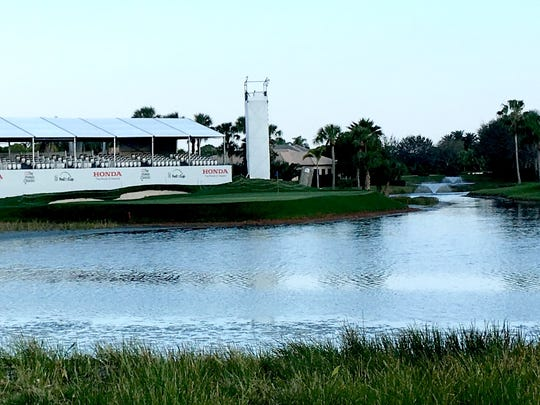 """The No. 17 hole on the Champion course at PGA National Resort & Spa is the final hole of the """"Bear Trap."""""""