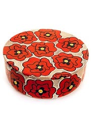 A poppy box is one of the gift items for sale at the Des Moines Art Center Museum Shop.