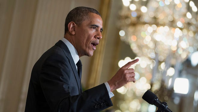 President Barack Obama during an event in the East Room of the White House on April 30. The Obama administration has capped spending on discretionary bonuses to no more than 1% of an agency's aggregate salaries of rank-and-file employees.