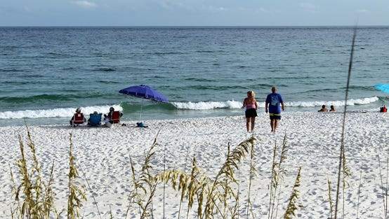 Sugar-white sand and aquamarine water consistently place Pensacola Beach among the world's top beaches.