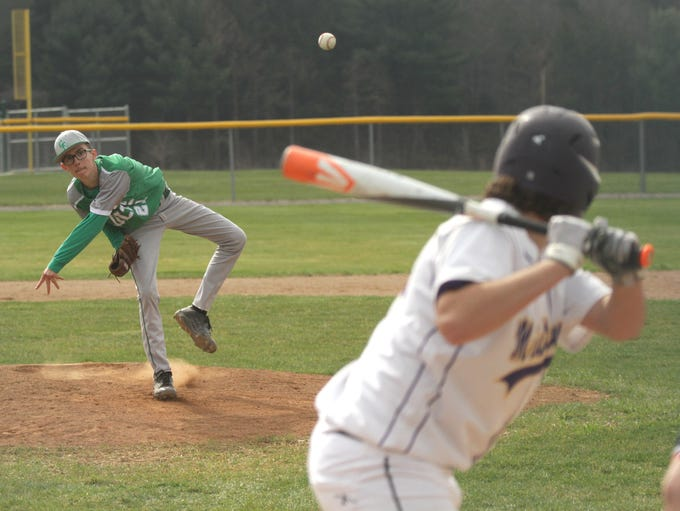 Clear Fork's Dylan Wade pitches against Lexington on